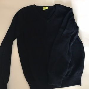 Navy v-neck crewcuts sweater size 6/7